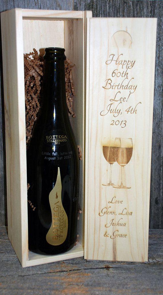 Birthday Gift Wedding Engraved Wine Box, Groomsmen gifts, Wedding party gifts, Engraved wedding gifts