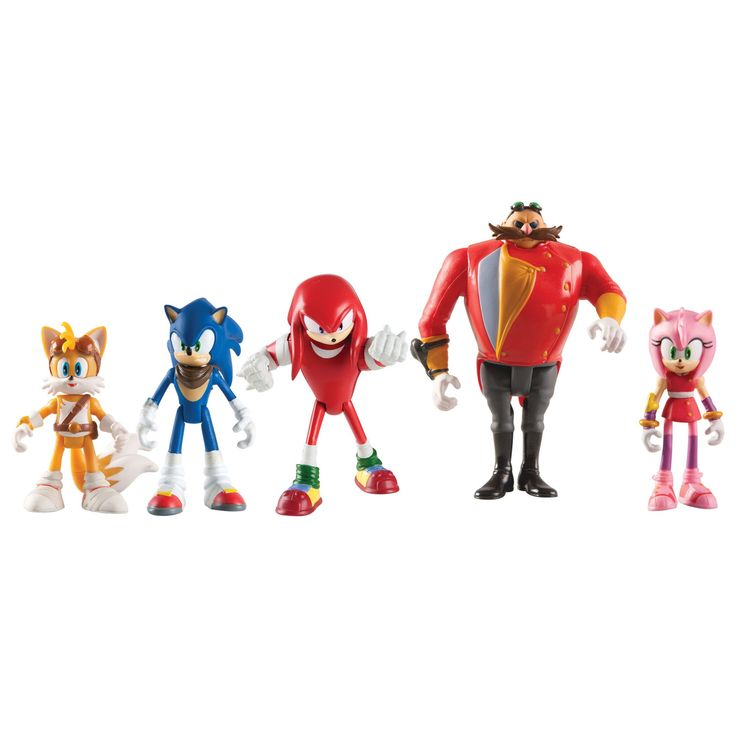 TOMY Sonic Boom Multi-Figure Pack Action Figure. Pack includes 5 highly detailed articulated figures. Collect Sonic, Knuckles, Tails, Amy and evil Dr. Eggman. Suitable for ages 4 years and up. Suitable for ages 3 years and up.