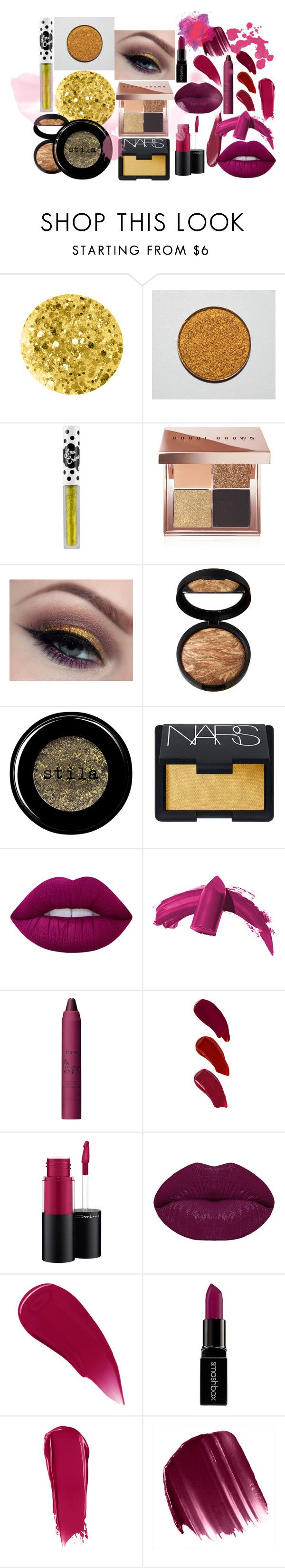 """Golden eyeliner and pink lips"" by misayodele on Polyvore featuring beauté, Anna Sui, Lime Crime, Bobbi Brown Cosmetics, By Terry, Stila, NARS Cosmetics, Elizabeth Arden, tarte et Ellis Faas"