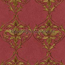 behang  roodgoud  barok