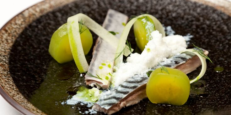This pickled mackerel recipe uses buttermilk to add a nice note to this pickled mackerel recipe from Scandanavian chef Christoffer Hruskova