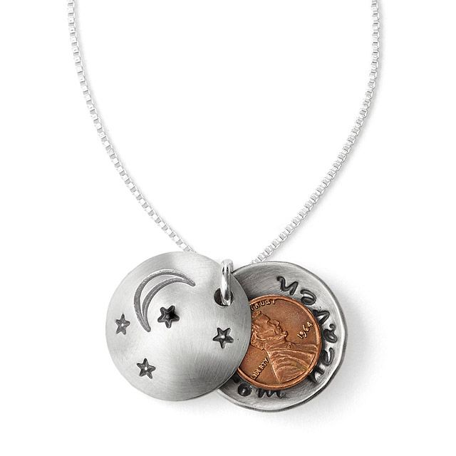 Pennies From Heaven Locket | Lucky Penny Charm | UncommonGoods