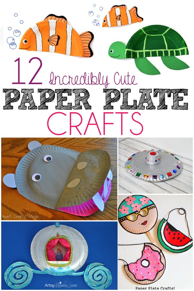 12 adorable paper plate crafts - I can't wait to make the whale one with my girl!
