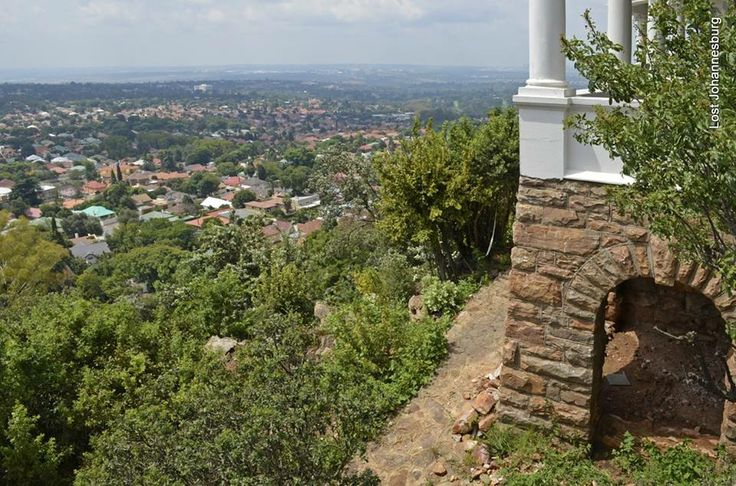 The view over Johannesburg from Tracey's Folly.