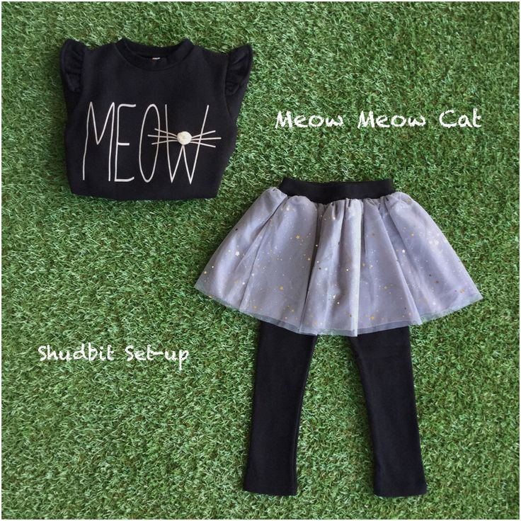 Meow Meow Look =^^= Mixing it up by adorable Meow top and shining stars lace skirt set-up @ candyrainbow.com.au