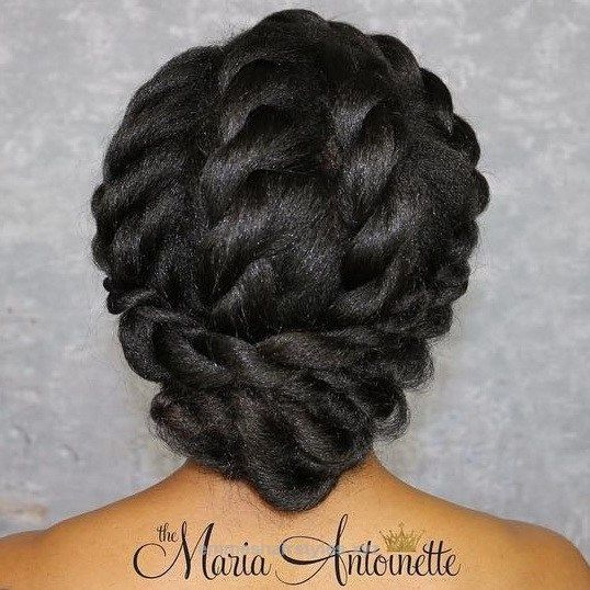 Wonderful Elegant Twisted Updo For Black Hair The post Elegant Twisted Updo For Black Hair… appeared first on Emme's Hairstyles .