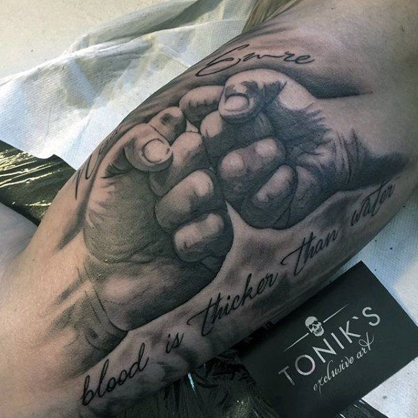 Family Is Blood Tattoo Mens Forearms