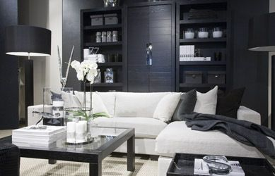 Dramatic furniture & color way for lounge