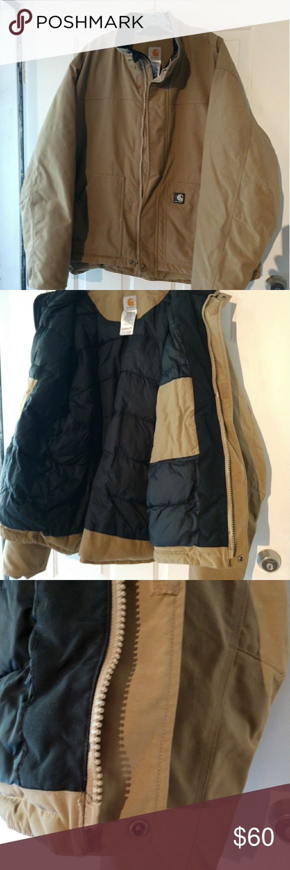 Carhartt Jacket This jacket is in very good used condition. Gently used condition. Perfect for Winter. Very warm. Not a light jacket. Priced to sell. Carhartt Jackets & Coats