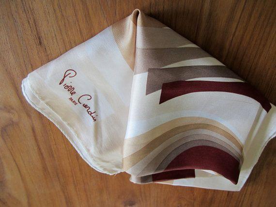 Pierre Cardin midcentury logo silk scarf by MMARVELOUSVINTAGE