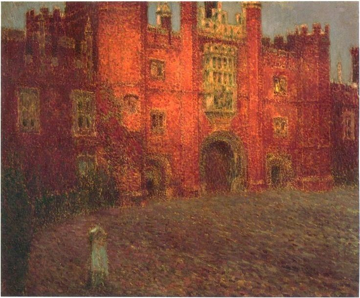 Henri Le Sidaner, The Great Gate at Hampton Court, 1908