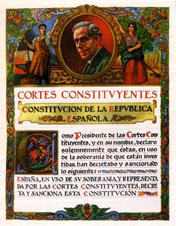 Las cortes constituyentes de la Segunda Republica de España