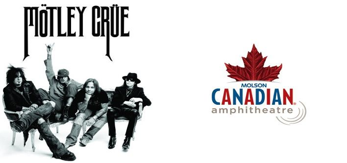 $69 for a Lawn Seat Ticket to Motley Crue on August 10, 2014 at the Molson Amphitheatre