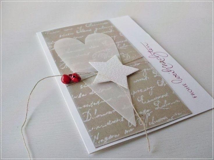 Die ersten 'großen' Weihnachtskarten sind entstanden. Es fiel mir ein bisschen schwer, reinzukommen - trotz Weihnachtsmusik..:-).... A...