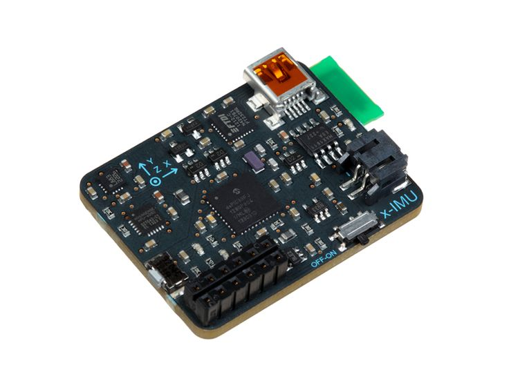 The x-IMU was designed to be the most versatile Inertial Measurement Unit (IMU) and Attitude Heading Reference System (AHRS) platform available. Its host of on-board sensors, algorithms, configurable auxiliary port and real-time communication via USB, Bluetooth or UART make it both a powerful sensor and controller. The on-board SD card* , battery charger (via USB), real-time clock/calendar and motion trigger wake up also make the x-IMU an ideal standalone data logger.