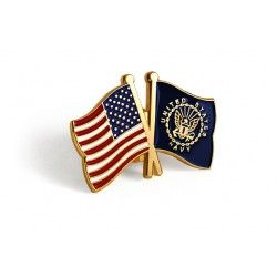 U.S. and U.S. Navy Crossed Flags Lapel Pin  https://store.nwtmint.com/product_details/8486/U.S._and_U.S._Navy_Crossed_Flags_Lapel_Pin/