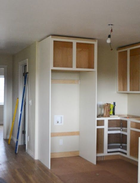 Owner Building A Home The Momplex Boxing In Fridge With