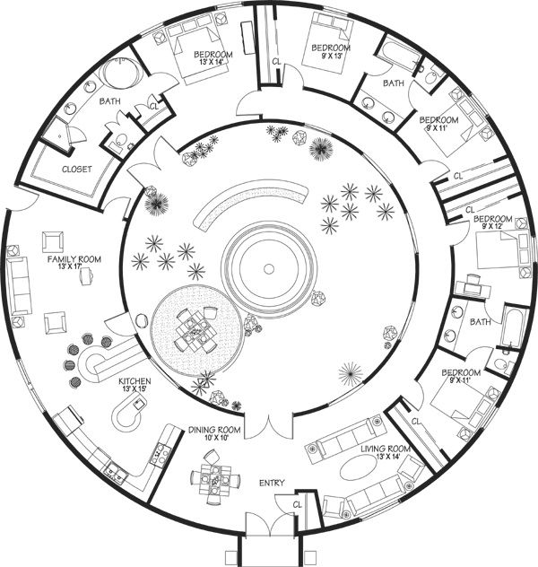 Dome Home Design Ideas: Dome Shaped House Floor Plans