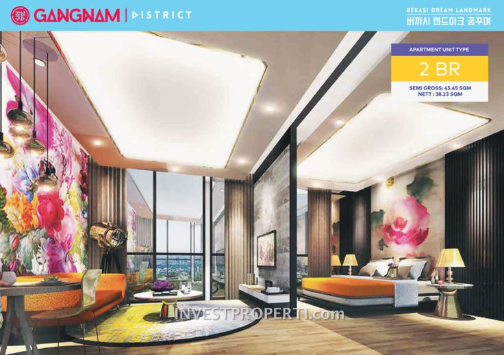Apartemen Gangnam District Bekasi Tipe 2 BR. #gangnambekasi