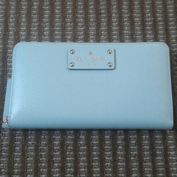 Kate Spade Wallet Light mint kate spade wallet. Dimension: 7.5 x 4.5. BRAND NEW. No scratches or damages kate spade Bags Wallets