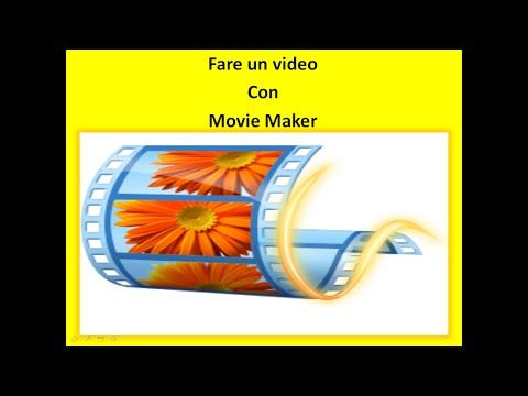 Chiarezza e  Semplicità: Fare un video con Movie Maker