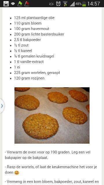 Havermout wortel koekjes
