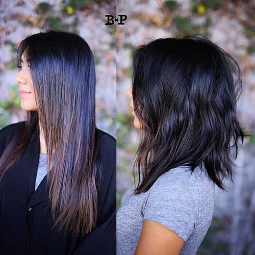 Short to Medium Hairstyle for Thick Hair