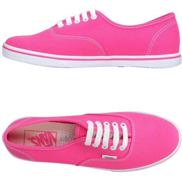 Vans Sneakers ($40) ❤ liked on Polyvore featuring shoes, sneakers, fuchsia, round toe sneakers, flat sneakers, fuchsia shoes, fuschia shoes and round toe flat shoes