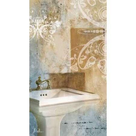 Bathroom and Ornaments II Canvas Art - Patricia Pinto (12 x 18)
