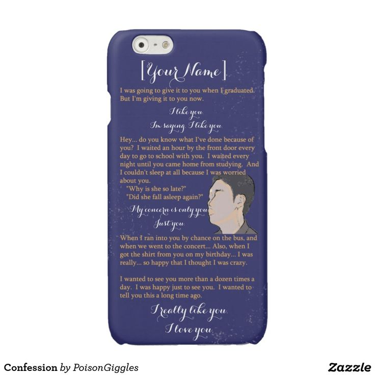 Confession Glossy iPhone 6 Case