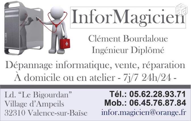 Dépannage Informatique 7j7 - Sur place/A domicile Services Gers - leboncoin.fr