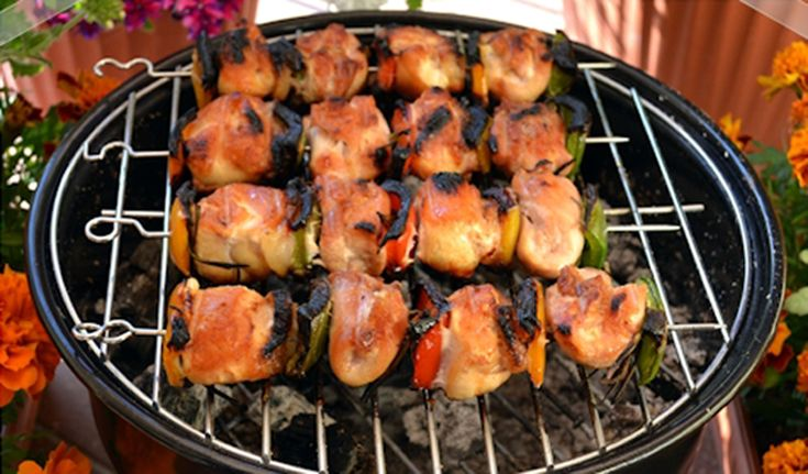 Spiedini di pollo e verdure / Skewers of chicken and vegetables