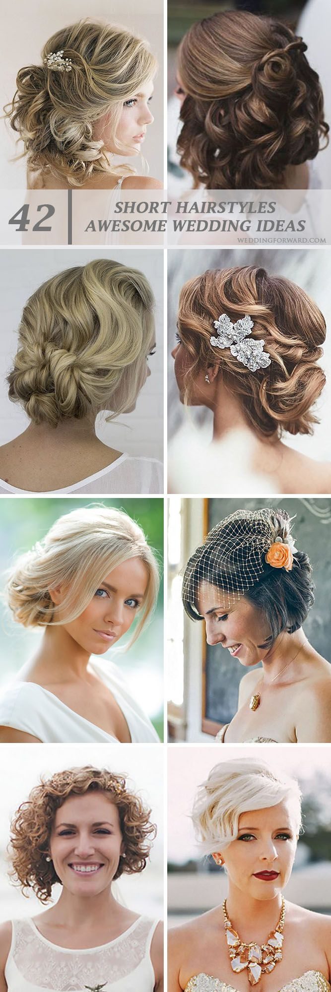 42 Short Wedding Hairstyle Ideas So Good You'd Want To Cut Your Hair ❤ If your short hairstyle is part of your individual style, then make it to highlight your image on the wedding day. See more: http://www.weddingforward.com/wedding-hairstyle-ideas-for-short-hair/ #wedding #hairstyle