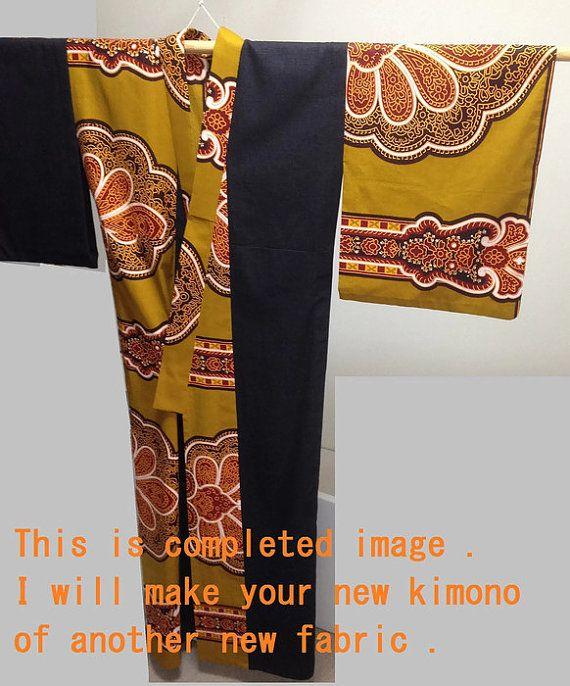 Custom order kimono : Very big size OK / Half African cotton