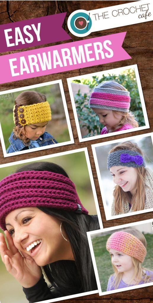 Crochet Patterns for Easy Earwarmers, Headwraps, and Headbands