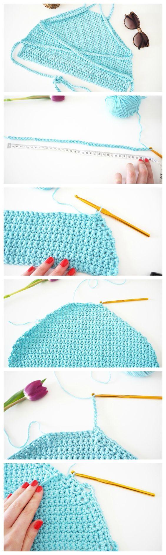 221 besten crochet women swimsuit Bilder auf Pinterest | Kleidung ...