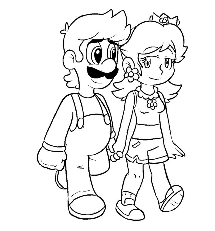 mario daisy coloring pages - photo#9