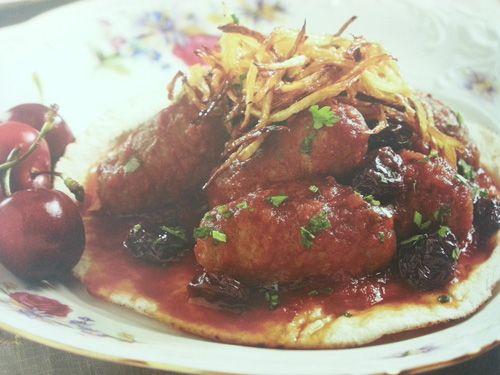 Kebab garaz con cerezas | Carne | Pinterest