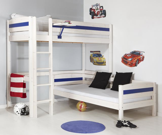 25 best ideas about l shaped bunk beds on pinterest l shaped beds bunk beds for girls and. Black Bedroom Furniture Sets. Home Design Ideas