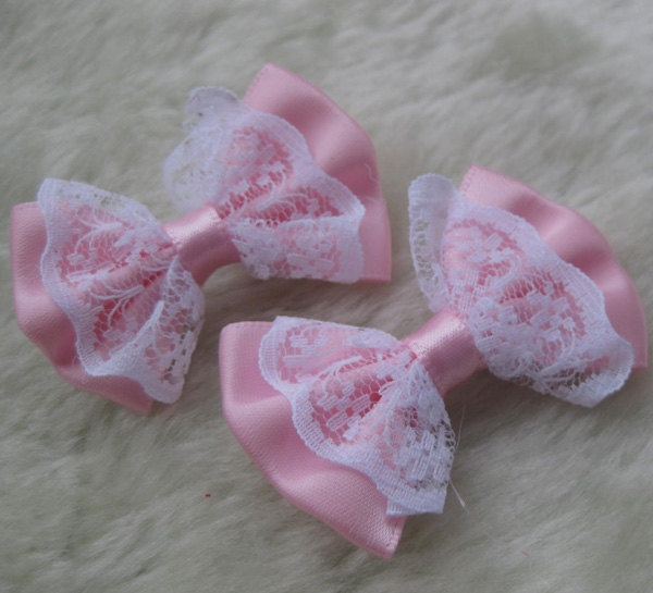 20PCS fancy ribbon flowers bows for hair clips by yehuating, $3.99