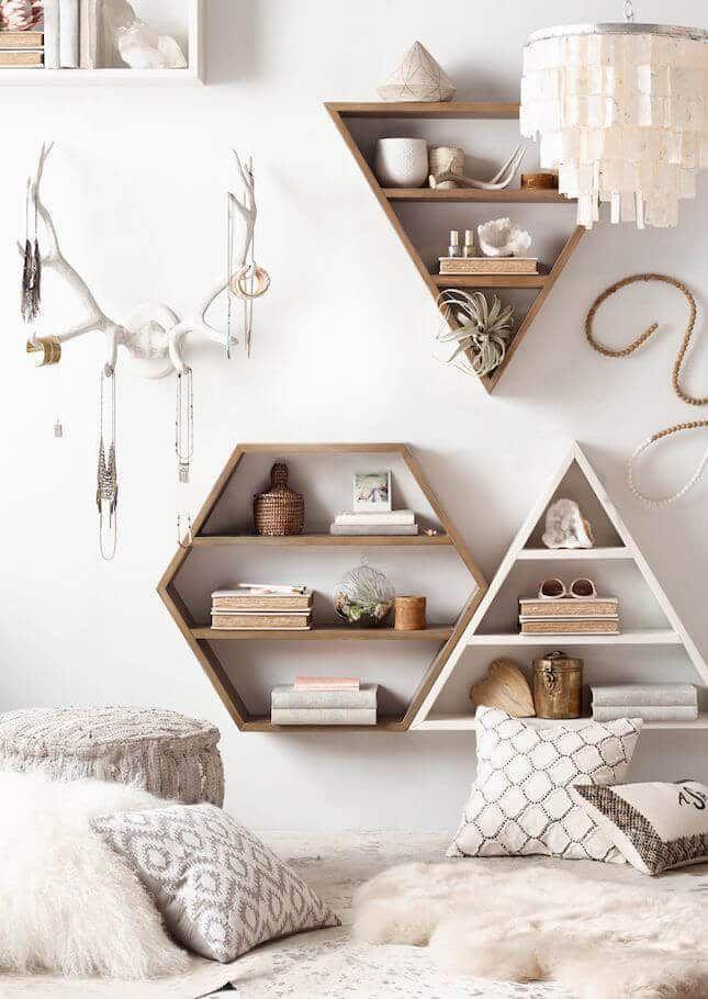 Geometric Scandinavian Bedroom Storage - Interior Design Ideas