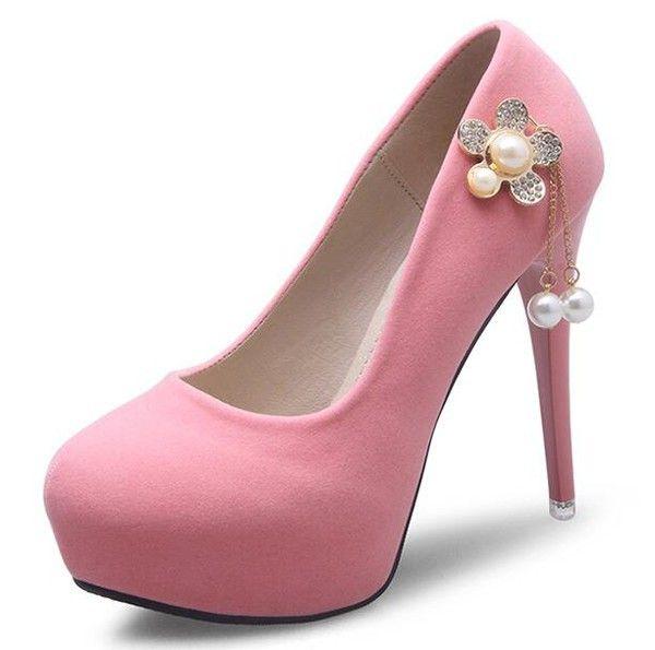 Beading Round Toe Platform Pumps_Pumps Women Shoes Wholesale Shoes Wholesale Clothing, Cheap Clothes Online, Discount Clothing Shop - UniWholersaler.com