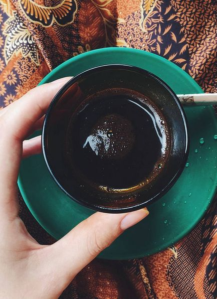 Reasons to visit Sumatra? Coffee!  With a side of batik. Lake Toba, Sumatra, Indonesia.