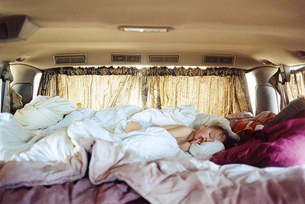 Justine Kurland, Untitled (Sleeping in Van), 2006 Courtesy the artist