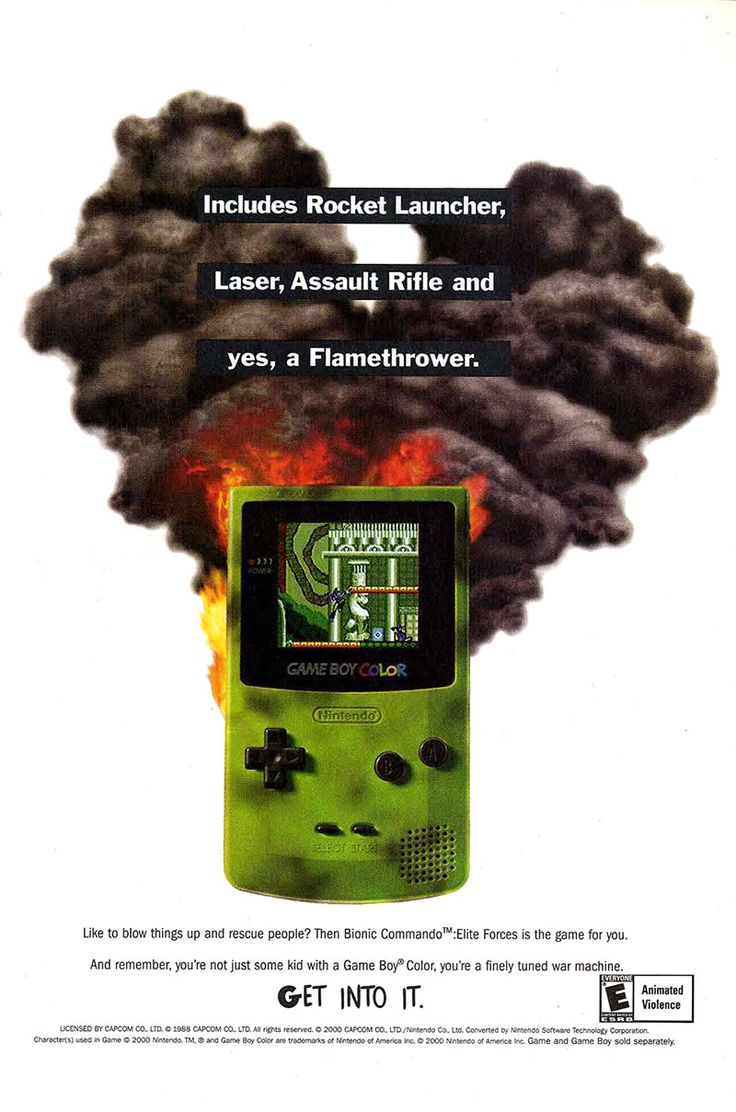 Gameboy color ad - Bionic Commando Elite Forces Game Boy Color Http Www