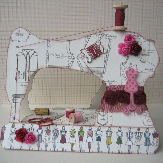 100 ideas to try about sewing machine cards other card for Arts and crafts sewing machine