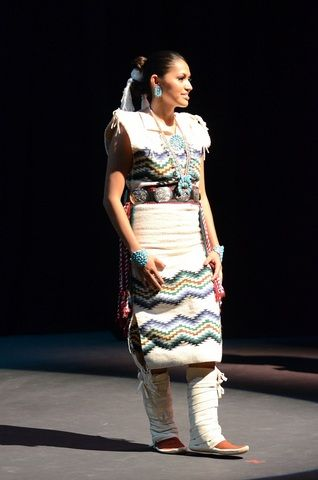 Shaylin Modeling Her Navajo Traditional Outfit During The