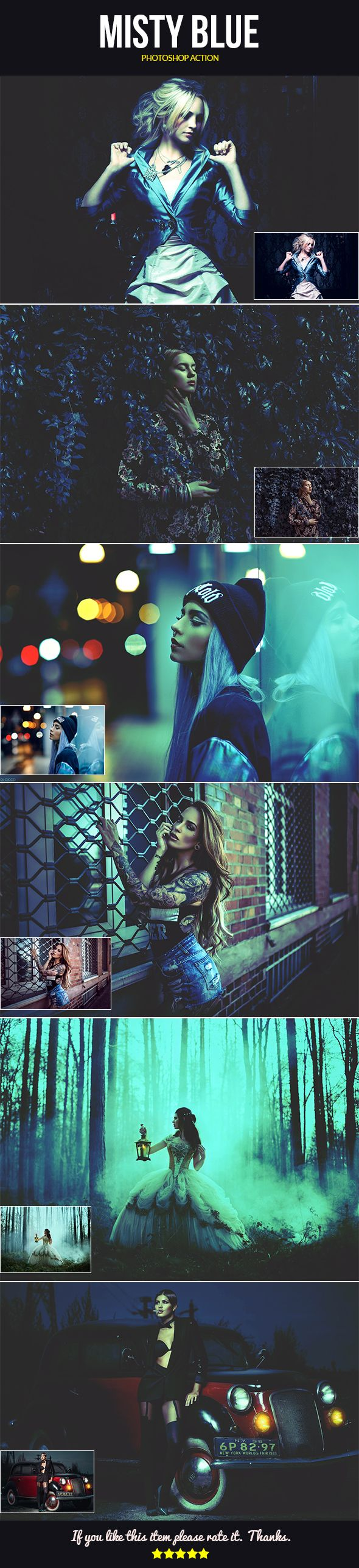 MISTY BLUE.... - Best Photoshop Actions for Designers & Photographers  Download:https://goo.gl/UKphMG