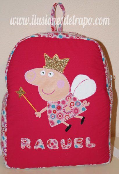 mochila peppa pig personalizada
