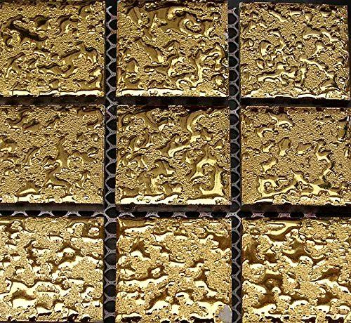 mosaik fliesen keramikmosaik uni gold geh mmert 1 matte. Black Bedroom Furniture Sets. Home Design Ideas